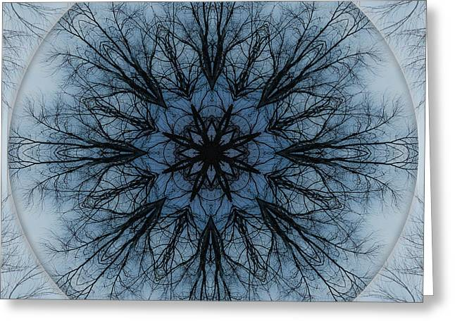 Winter Tree Mandala 2 Greeting Card