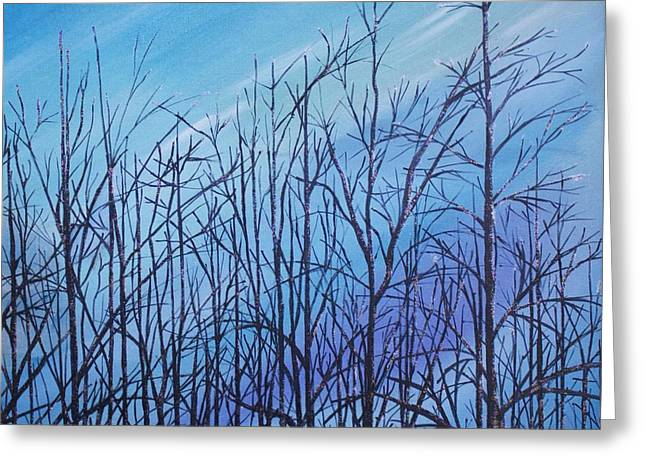 Winter Trees Against A Blue Sky Greeting Card