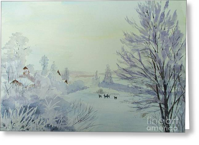 Winter Visitors Greeting Card