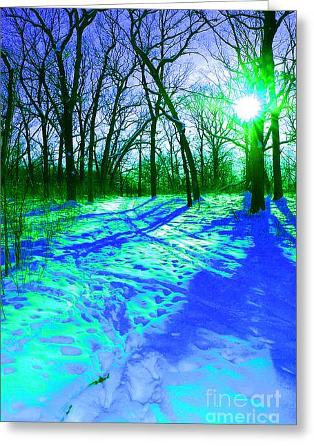 Winter Walk  Greeting Card by First Star Art