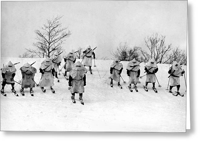 Winter Warfare Maneuvers Greeting Card by Underwood Archives