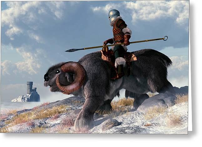 Winter Warrior Greeting Card by Daniel Eskridge