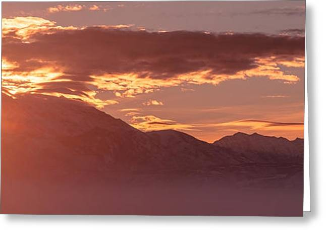 Winter Wasatch Daybreak Greeting Card by Chad Dutson