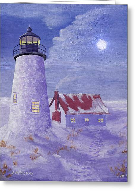 Winter Watch Greeting Card by Jerry McElroy