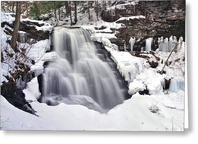Winter Wilds At Erie Falls Greeting Card