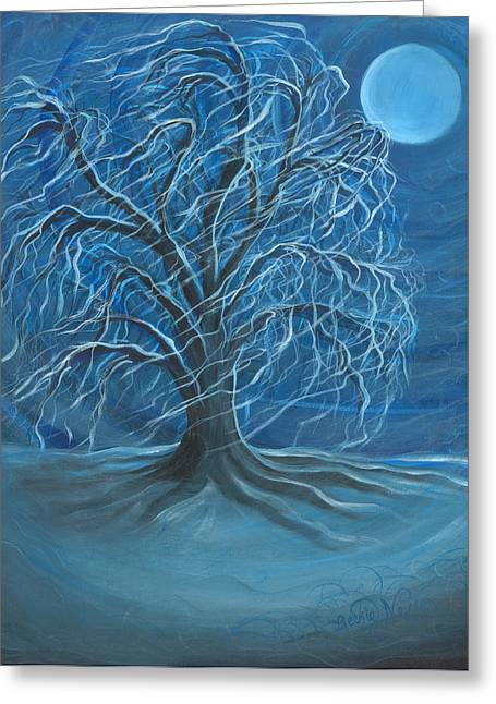 Winter Willow Greeting Card by Beckie J Neff