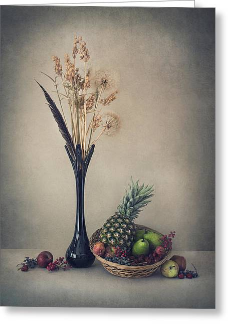 Winter With Fruits Greeting Card