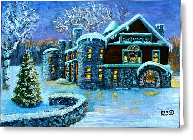 Winter Wonderland At The Paine Estate Greeting Card