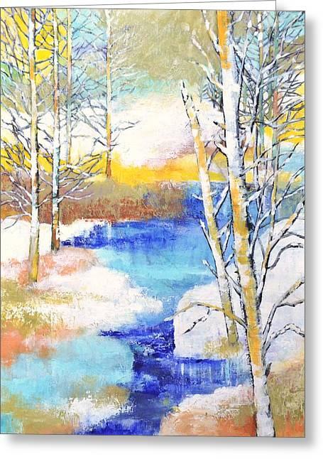Winter Wonderland Greeting Card by Betty M M   Wong