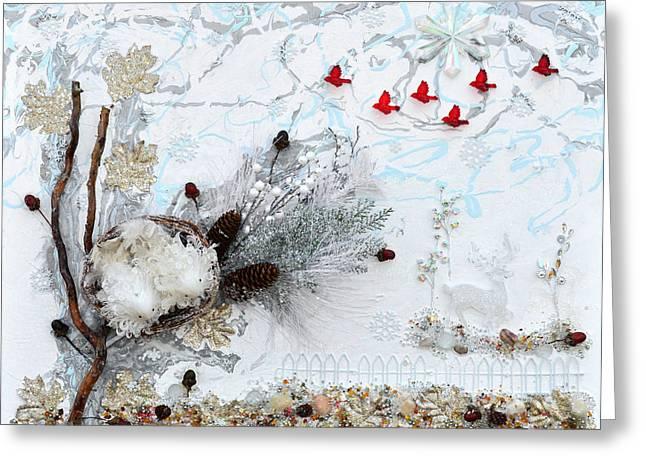 Winter Wonderland Greeting Card by Donna Blackhall