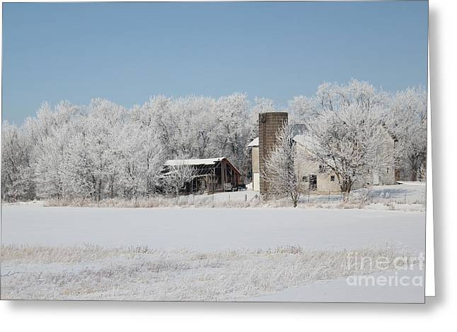 Winter Wonderland Farm Greeting Card
