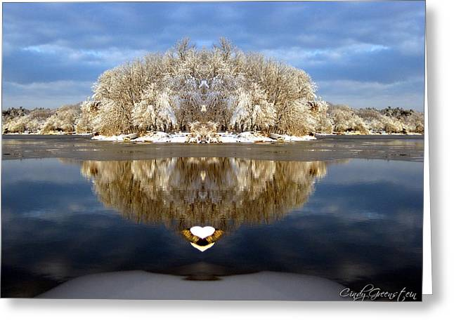Greeting Card featuring the photograph Winter Wonderland Love by Cindy Greenstein