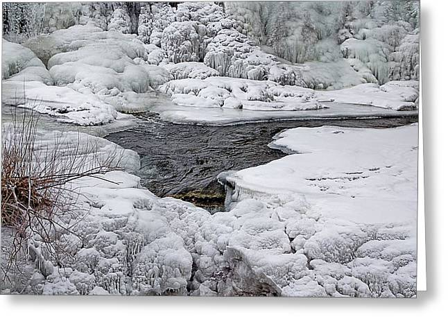 Greeting Card featuring the photograph Vermillion Falls Winter Wonderland by Patti Deters