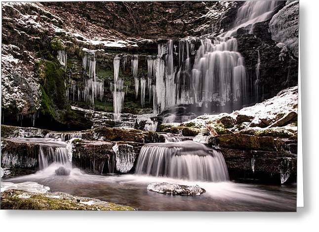 Winter Wonders At Scaleber Force Greeting Card by Chris Frost