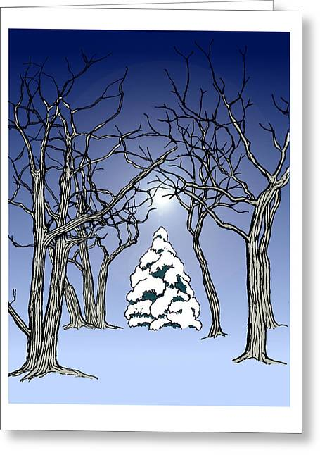 Winter Woods 3 Greeting Card