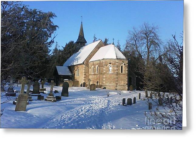Winter Worship Greeting Card