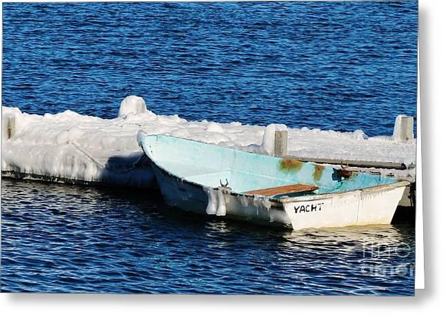 Winter Yacht Greeting Card