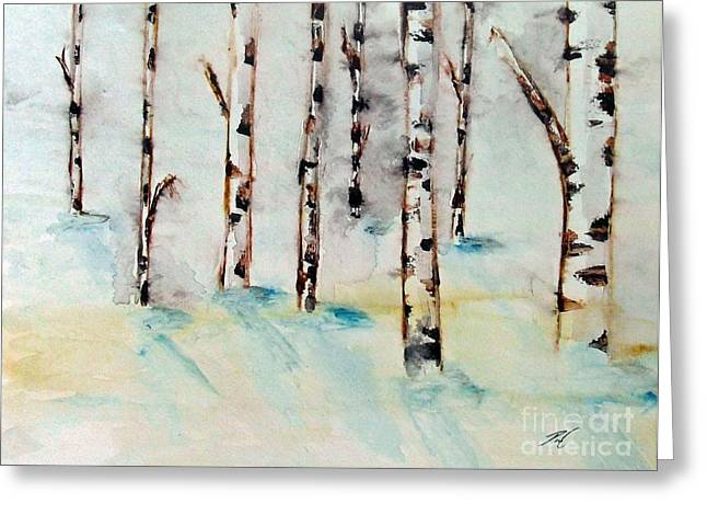 Winterbirch Greeting Card