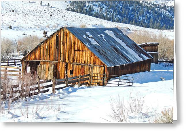 Wintering Range Barn Greeting Card