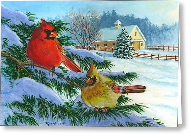 Winterlude Greeting Card by Richard De Wolfe