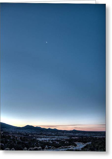 Winter's Dawn Over Santa Fe No.1 Greeting Card by Dave Garner