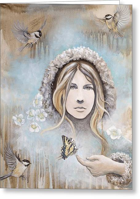 Winter's Dream Greeting Card by Sheri Howe