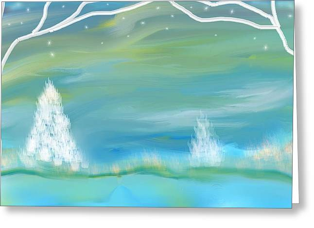 Winters Edge Greeting Card