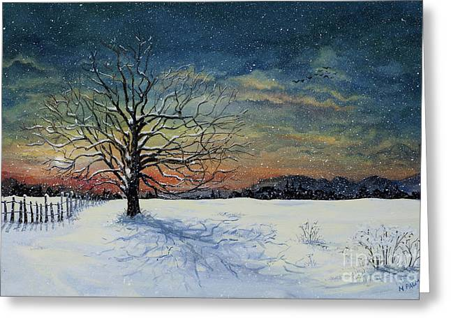 Winters Eve Greeting Card