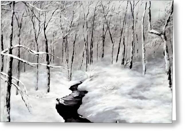Winters Glory Greeting Card by Jennifer  Blenkinsopp