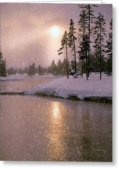 Winters Light Greeting Card by Leland D Howard