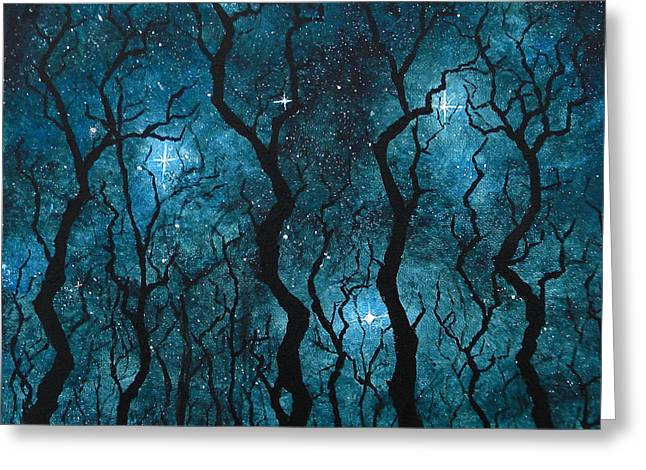 Winter's Night Greeting Card by Sabrina Zbasnik