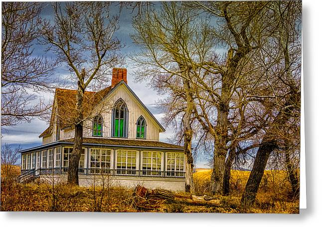 Winters Ranch Greeting Card by Janis Knight