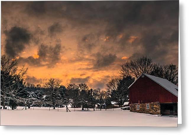 Winter's Sky Greeting Card