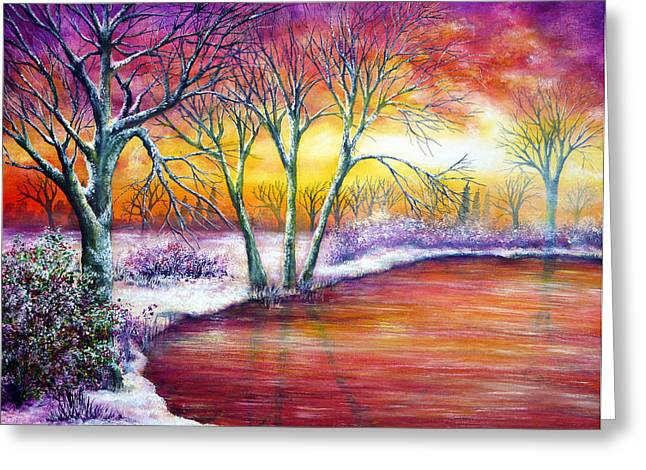 Winter's Song Greeting Card by Ann Marie Bone