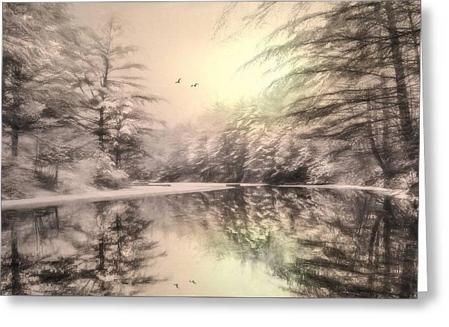 Winter's Soul Greeting Card by Lori Deiter
