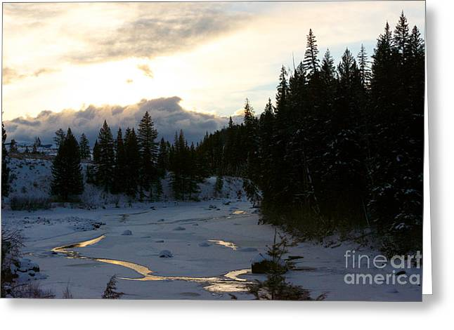 Winter's Sunrise Greeting Card by Birches Photography