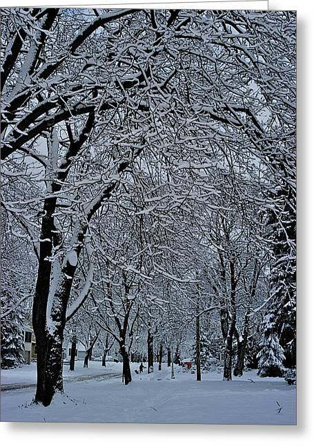 Winter's Work Greeting Card by Joseph Yarbrough