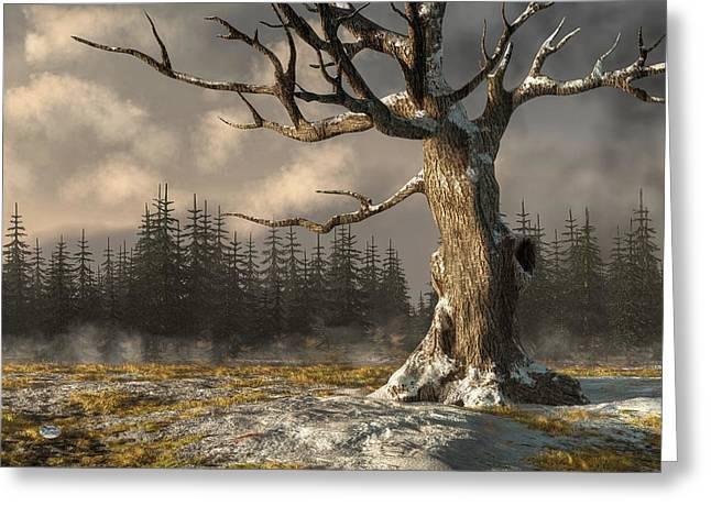Winterscape Greeting Card by Daniel Eskridge