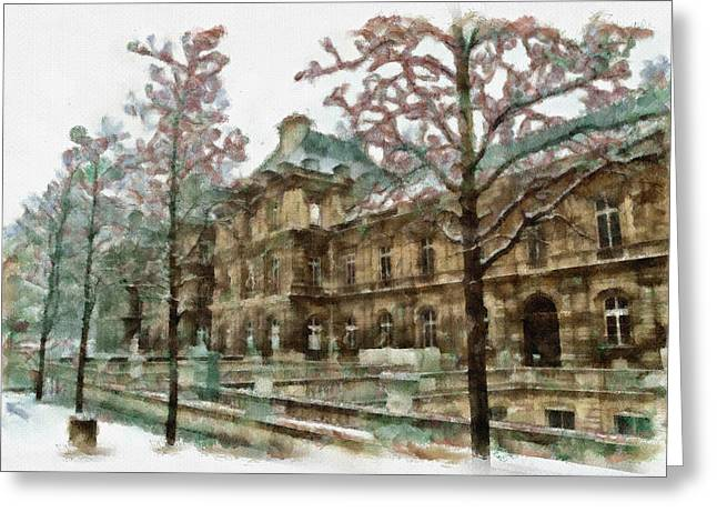 Wintertime Sadness Greeting Card