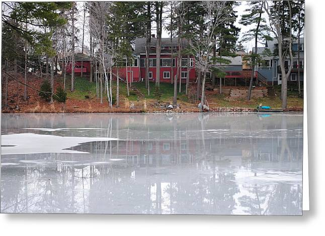 Wintery Reflection Greeting Card by Frozen in Time Fine Art Photography