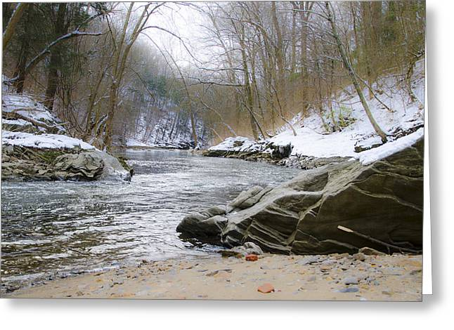 Wintery Wissahickon Creek Greeting Card