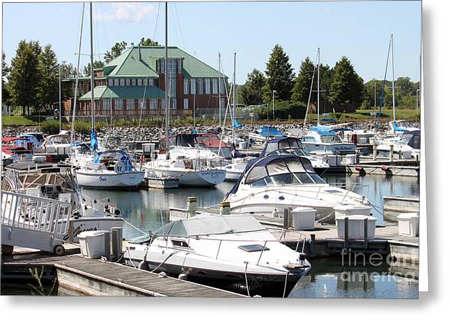 Greeting Card featuring the photograph Winthrop Harbor by Debbie Hart