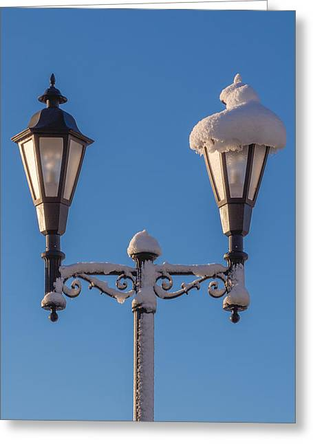 Wintry Lamp Post Greeting Card