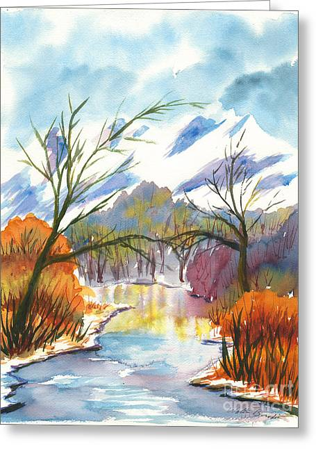 Wintry Reflections Greeting Card