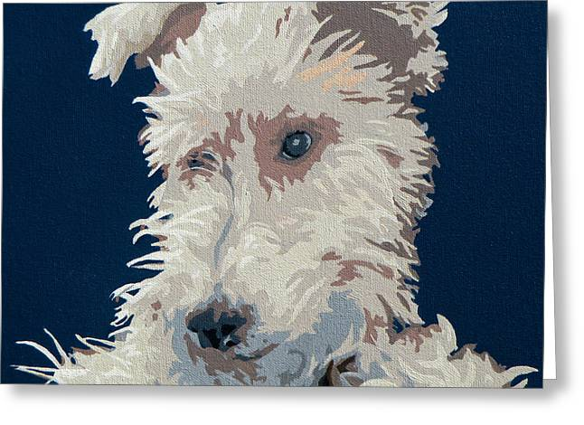 Wire Fox Terrier Greeting Card by Slade Roberts