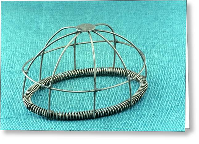 Wire Frame Anaesthesia Mask Greeting Card by Science Photo Library