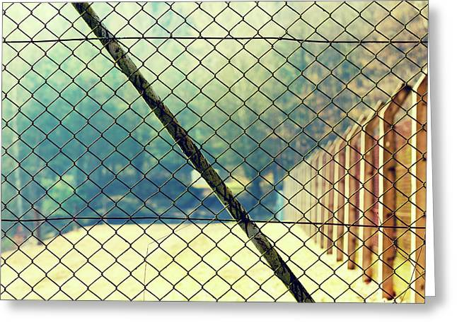 Wire Mesh Fence Greeting Card