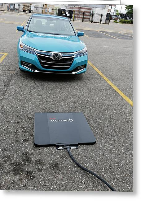 Wireless Vehicle Charging System Greeting Card by Jim West