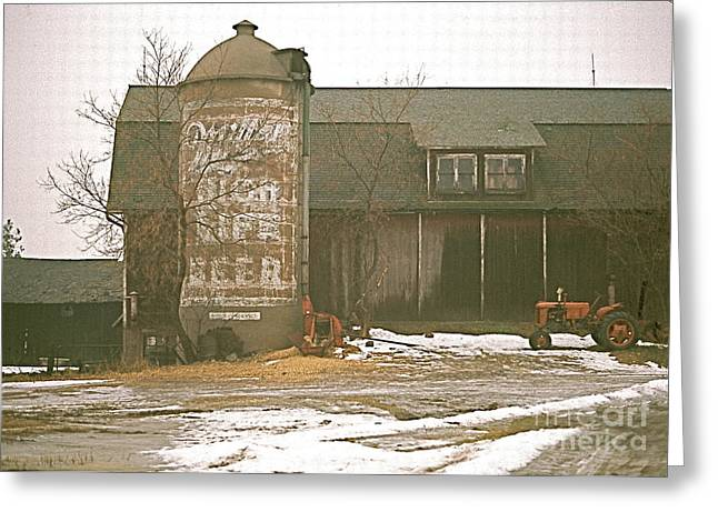 Wisconsin Barn With Silo Greeting Card