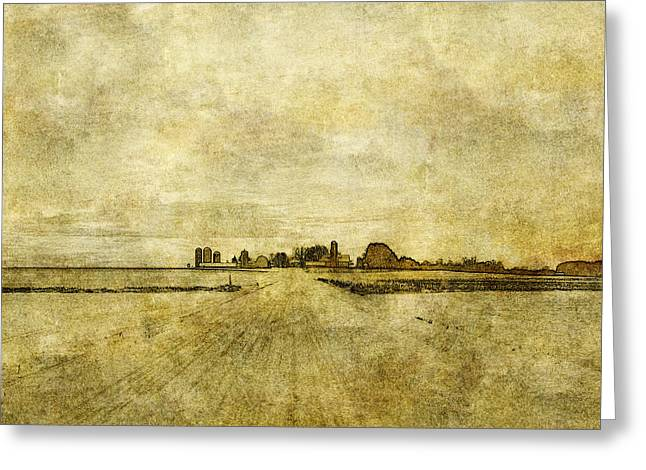 Wisconsin Farm Greeting Card by David Blank